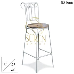 SS1466 Suren Space Bent Metal Colonial Inspired Handmade Bar Chair