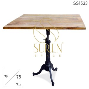 SS1533 Suren Space Cast Iron Base Adjustable Bistro Cum Bar Table