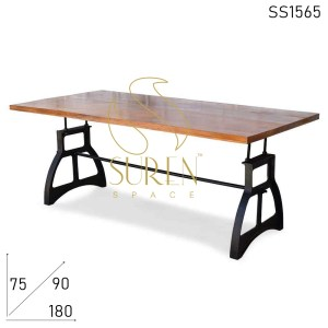 SS1565 Suren Space Casting Base Solid Wood Interior Choice Dining Table