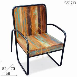 SS1713 Suren Space Recycling Distress Finish Outdoor Rest Stuhl