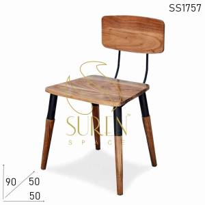 SS1757 Suren Space Solid Acacia Wood Metal Restaurant Chair