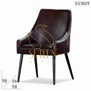 SS1809 Suren Space Fine Dine Restaurant Leather Modern Design Chair