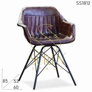 SS1812 Leather Industrial Restaurant Chairs
