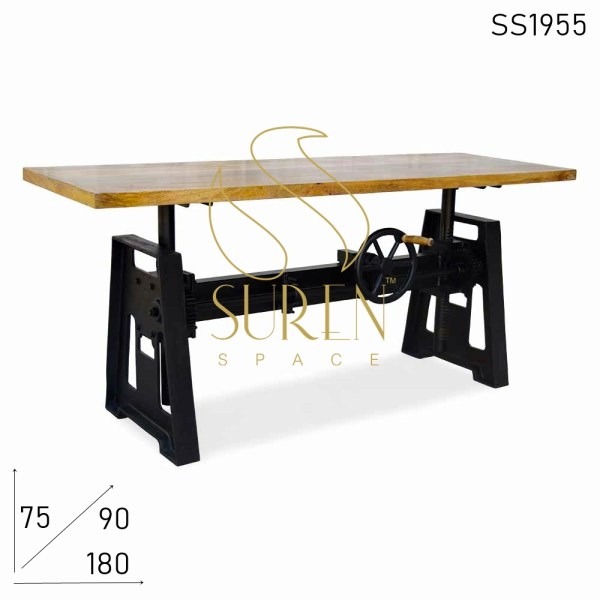 SS1955 Suren Space Cast Iron Height Adjustable Heavy Bar Cum Regular Table