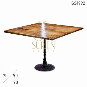 SS1992 Suren Space Round Base Cast Iron Folding Bistro Cafe Table