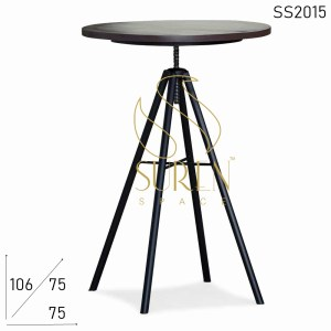 SS2015 Suren Space Light Weight Height Adjustable Round Bar Table