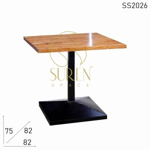 SS2026 Suren Space Heavy Base Natural Finish Cafe Bistro Table