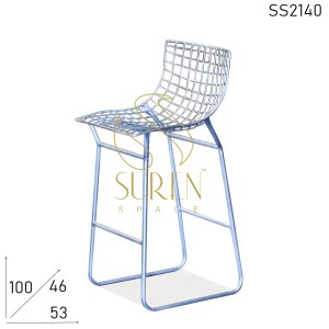 SS2140 Suren Space Comfortable Metal Seat Back Metal Finish Designer Bar Chair