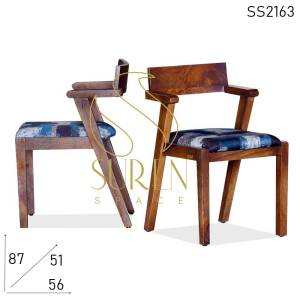 SS2163 Suren Space Solid Mango Wood Arm Rest Restaurant Chair