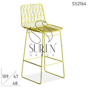 SS2164 Suren Space Crafted Metal Solid Base Outdoor All Weather Bar Chair