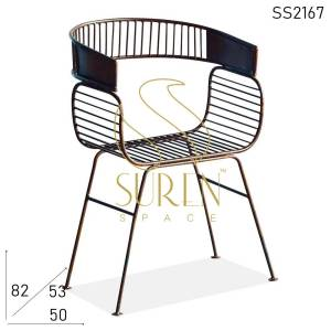 SS2167 Suren Space Bent Metal Rustic Outdoor Hotel Resort Garden Chair