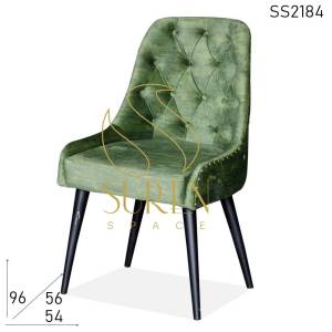 SS2184 Suren Space Tufted Green Velvet Iron Frame Accent Chair