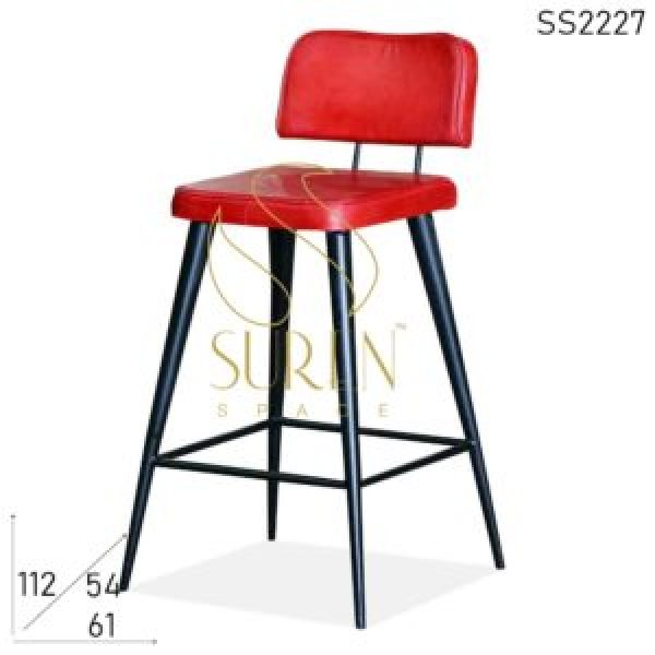 SS2227 Suren Space Modern Industrial Leather Seat Back Bar Pub Chair