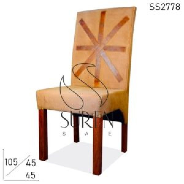 SS2778 Suren Space Canvas Leather Upholstered Industrial Restaurant Chair