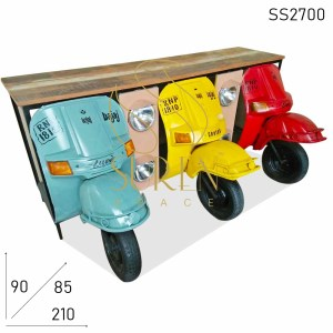 SS2700 Suren Space Three Scooter Automobile Design Long Counter Table