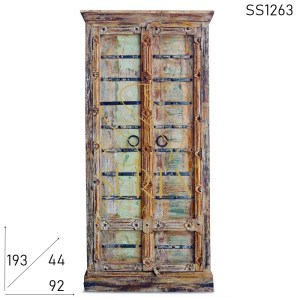 SS1263 Suren Space Real Old Door Antique Reproduction Resort Room Wardrobe