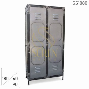 SS1880 Suren Space Steel Finish Commercial Use Metal Industrial Almirah Cabinet