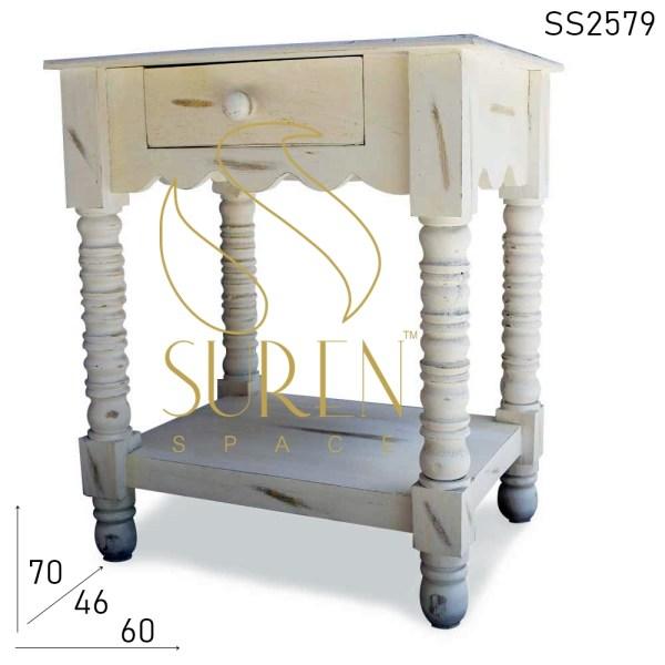 SS2579 Suren Space Whitewash Wooden Furniture design for Hotel Resort HOme