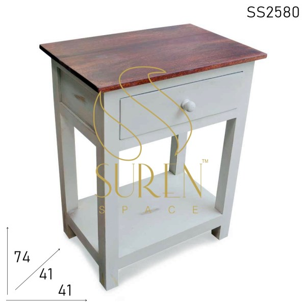 SS2580 Suren Space Solid Wood Distress Bedside