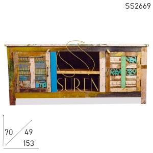 SS2669 SUREN Space Block Parche Old Wood Entertainment Center Unidad
