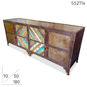 SS2714 SUREN SPACE Old School Inpire Antique Metal Entertainment Unit
