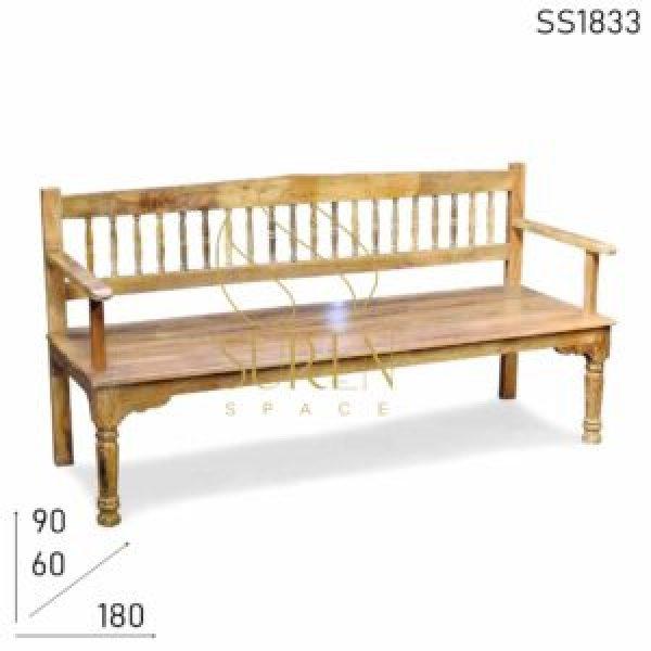 SS1833 SUREN SPACE Ручной Созданный Твердый индийский ресторан Деревянный дизайн скамейки
