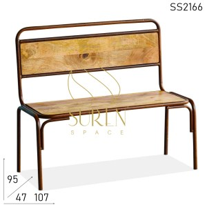 SS2166 SUREN SPACE Simple buscando madera maciza banco de dos plazas