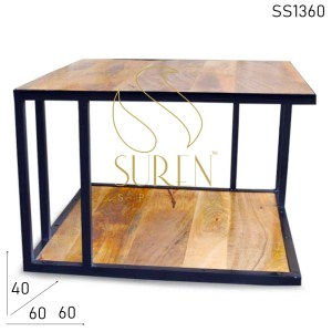 SS1360 Suren Space Industrial Metal Frame Indian Center Table Design