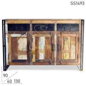 SS1493 Сурен пространства индийских Мелиорированные древесины промышленный стиль буфета