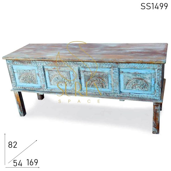SS1499 Suren Space Hand Carved Distress Finish Long Console Table