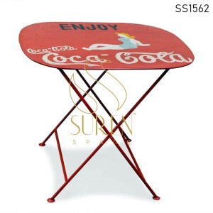 SS1562 Suren Space Hand Painted Outdoor Folding Resort Coffee Table