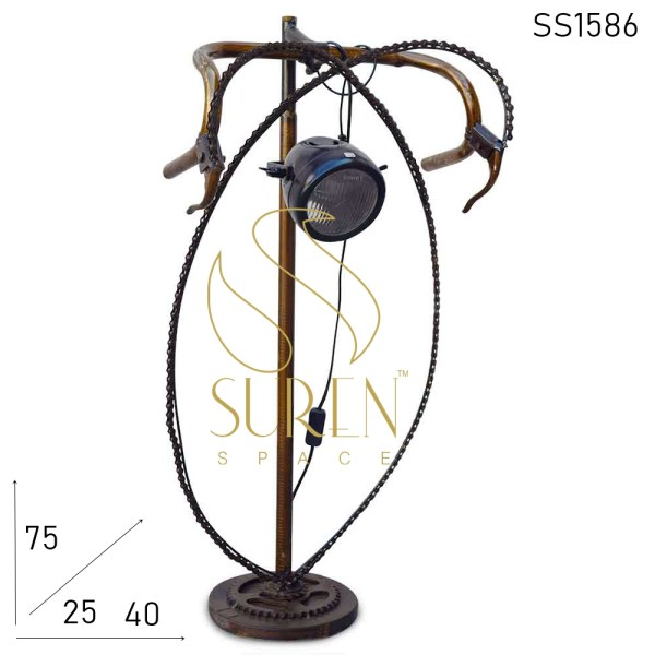 SS1586 SUREN SPACE Cycle Theme Upcycled Indian Table Lamp