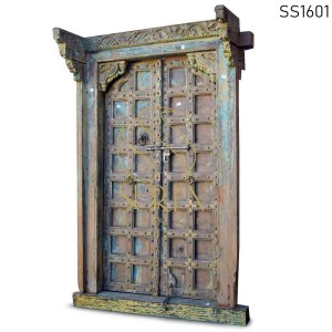 SS1601 Suren Space One of Kind Hand Carved Indian Door For Hotel