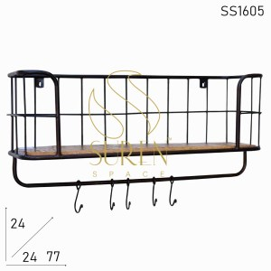 SS1605 Suren Space Small Hanging Industrial Wooden Bookcase
