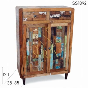 SS1892 Suren Space Old Indian Reclaimed Wood Cabinet Design