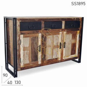 SS1895 Suren Space Industrial Reclaimed Design Duel Tone Sideboard Design