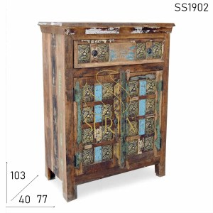 SS1902 Suren Space Metal Fitted Reclaimed Wood Cabinet Design