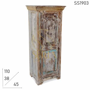 SS1903 Suren Space White Distress Solid Wood Cabinet Design