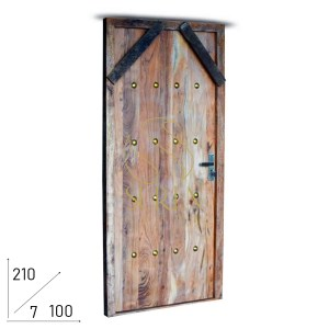 SS2042 Suren Space Indian Acacia Wood Hand Crafted Room Door