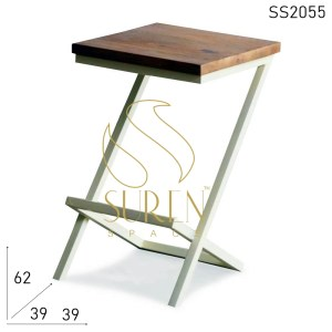 SS2055 Suren Space Metal Solid Wood Side table Design
