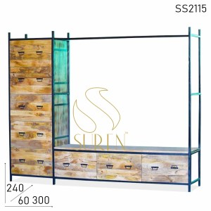 SS2115 Suren Space King Size Multi Drawer Luggage Storage Rack