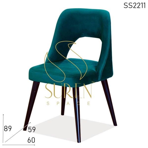 SS2211 Suren Space Velvet Fabric Metal Base Fine Dine Restaurant Chair
