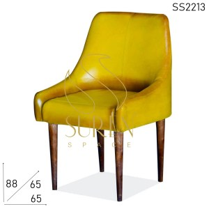 SS2213 Suren Space Yellow Finsh Pure Leather Fine Dine Chair