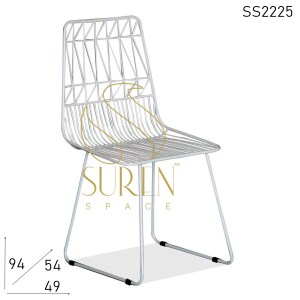 SS2225 Suren Space Bent Metal Hospitality Outdoor Chair Design