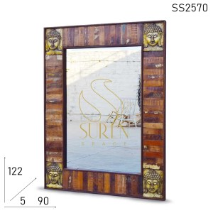 SS2570 Suren Space Old Indian Wood Bathroom Mirror Frame