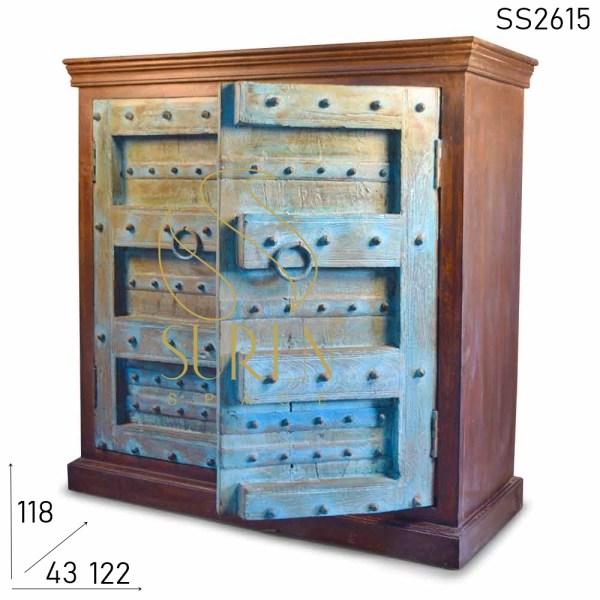 SS2615 Suren Spazio Blu Vecchia Porta Antico Riproduzione Antico Design Credenza