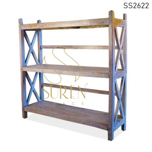 SS2622 Antique Wood Display Cabinet