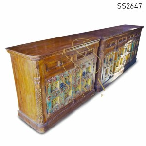 SS2647 Suren Space Old Door Antique Reproduction Unique Sideboard Design