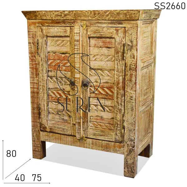 SS2660 Suren Space Reclaimed Wood White Distress Cabinet Design