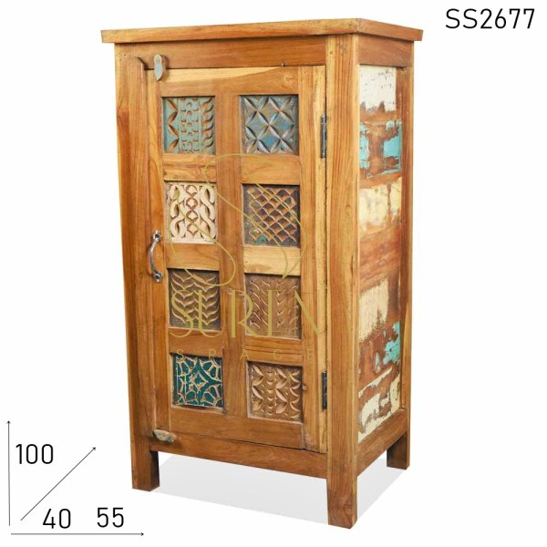 SS2677 Suren Space Small Size Compact Reclaimed Wood Cabinet Design